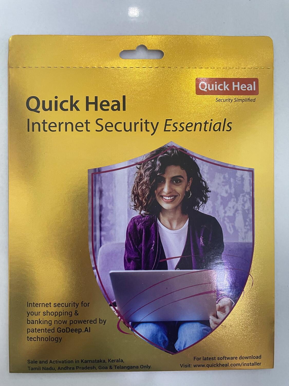1 User, 1 Year, Quick Heal Internet Security, Essentials