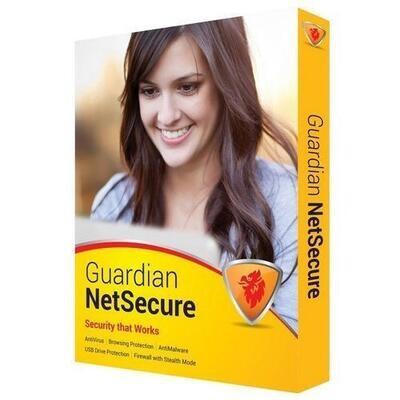 2 User, 1 Year, Guardian NetSecure Antivirus