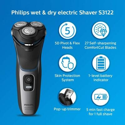 Philips Cordless Electric Shaver S3122/55