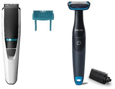 Philips Beard Trimmer (BT3203/15) & Body Groomer (BG1025/15) Combo