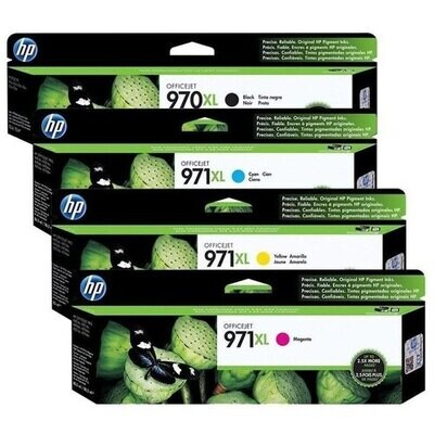 HP 970XL / 971XL Ink Cartridge, Combo pack