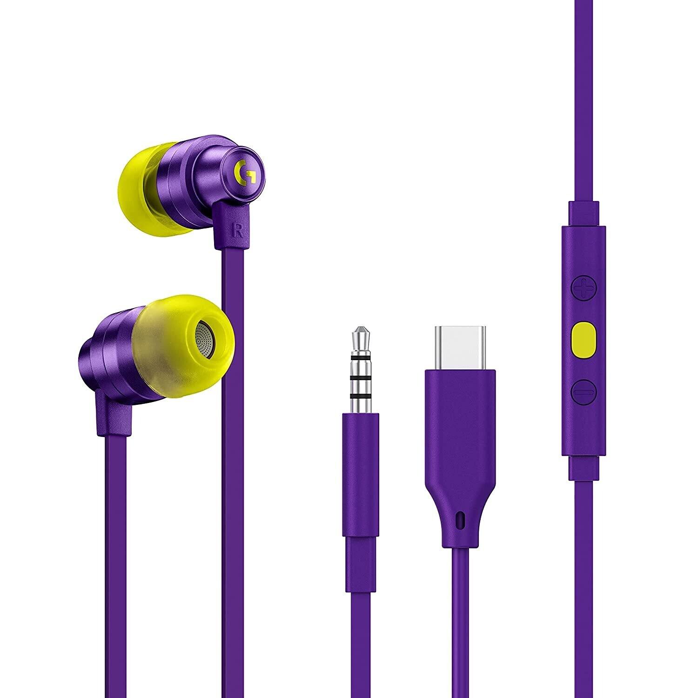 Logitech G333 Gaming Earphones,Purple