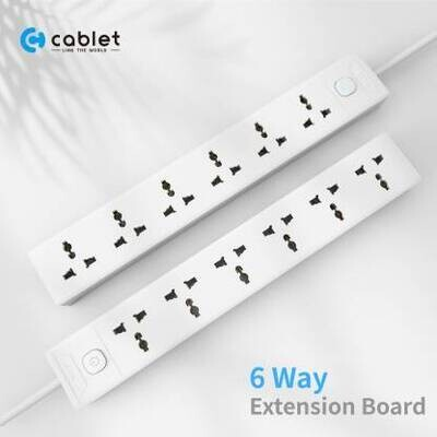 Cablet 6 Sockets, 1 Switch 4.5 mtr Extension Board