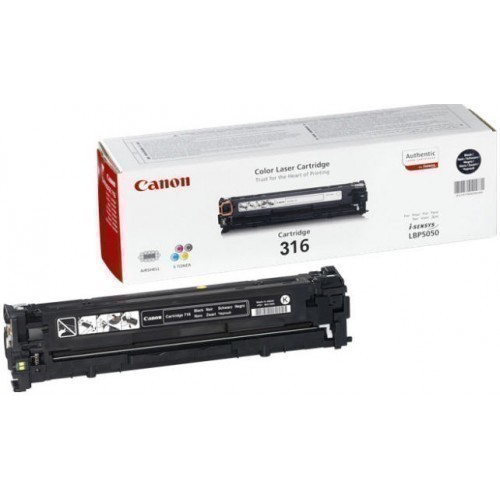 Canon 316 Toner Cartridge, Black