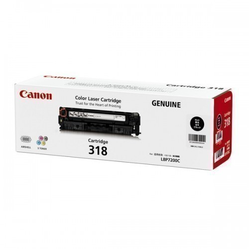 Canon 318 Toner Cartridge, Black