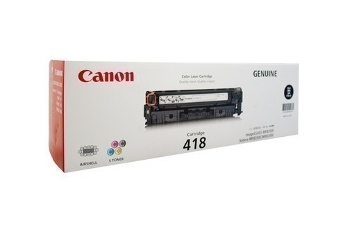 Canon 418 Toner Cartridge, Black