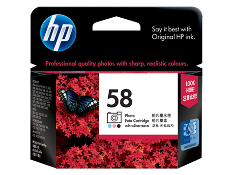 HP 58 Ink Cartridge, Photo Tri Color
