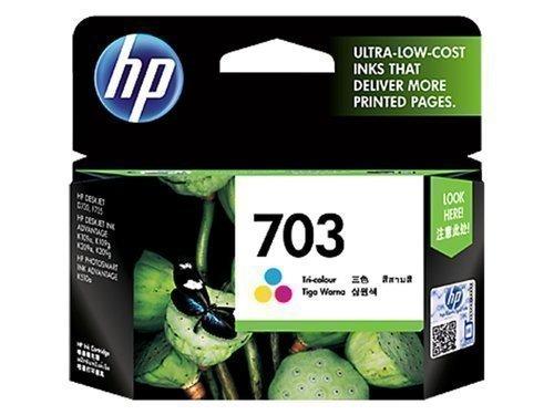 HP 703 Ink Cartridge, Tri Color, CD888AA