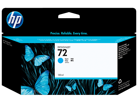 HP 72 Ink Cartridge, Cyan, 130ml