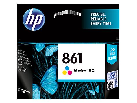 HP 861 Ink Cartridge, Tri Color