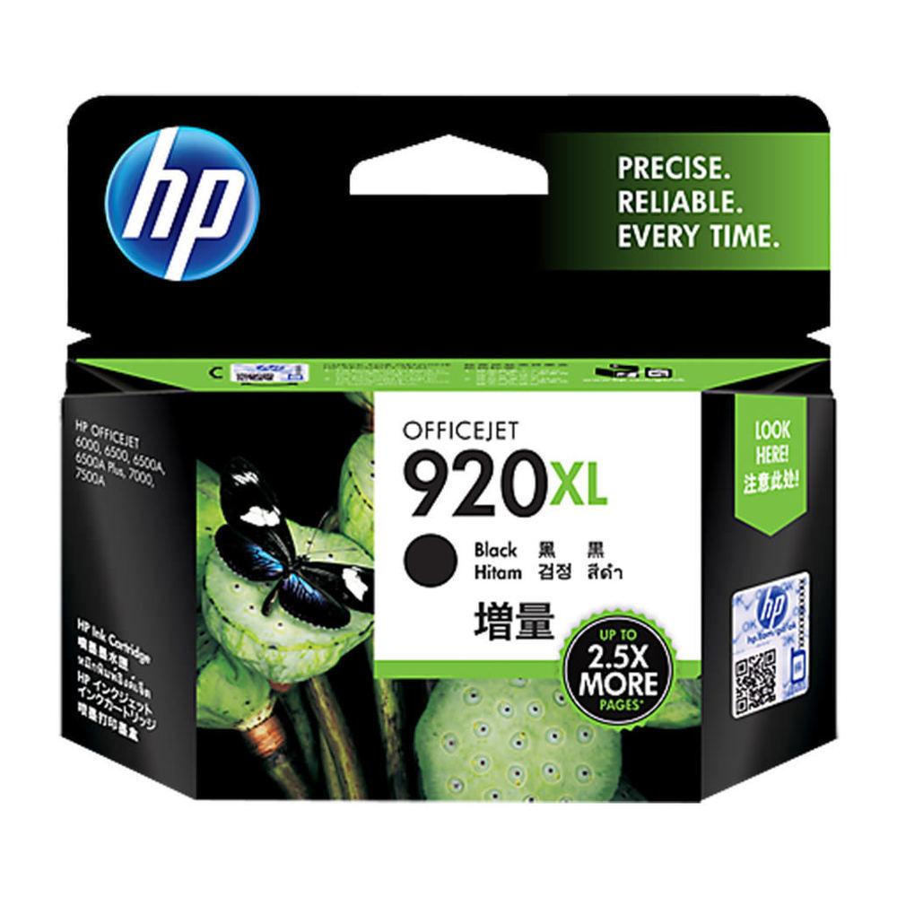 HP 920 XL Ink Cartridge, Black, CD975AA