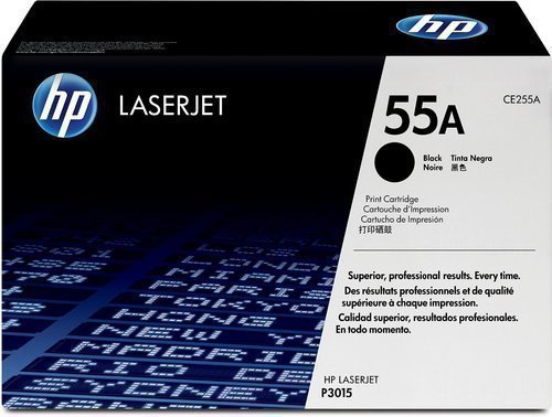 HP CE255A 55A Toner Cartridge, Black
