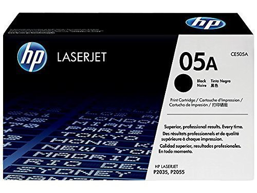 HP 05A Toner Cartridge, Black, CE505A