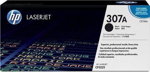 HP CE740A 307A Toner Cartridge, Black