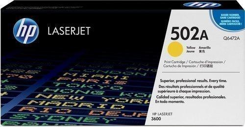 HP Q6472A 502A Yellow Toner Cartridge