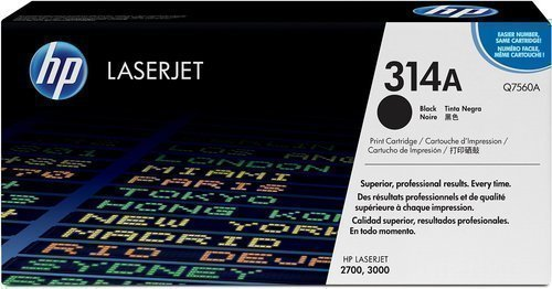 HP Q7560A 314A Toner Cartridge, Black