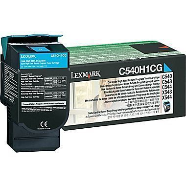 Lexmark C540H1CG High Cyan Toner Cartridge