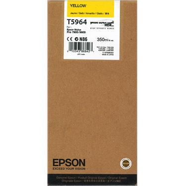 Epson T5964 Ink Cartridge, Yellow, 350ml