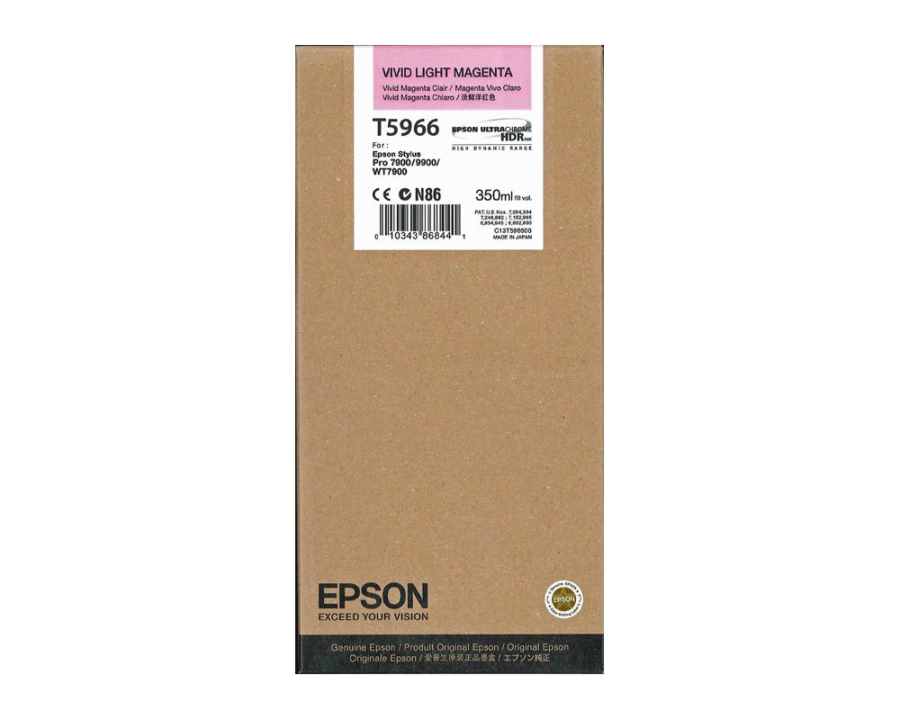 Epson T5966 Ink Cartridge, Vivid Light Magenta, 350ml