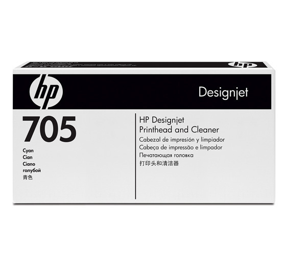 HP 705 Cyan & Cleaner Printhead, CD954A