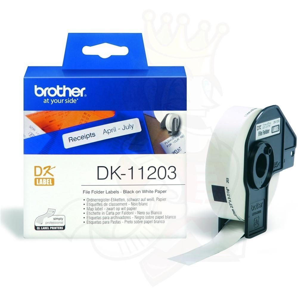 Brother DK11203 File Folder Label, 17mm X 87mm X 300pcs