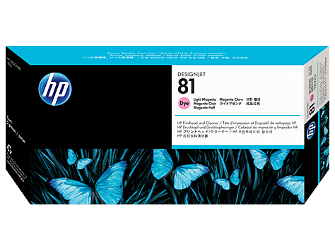 HP 81 Printhead, Light Magenta & Cleaner