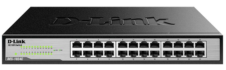 D-Link 24-Port Unmanaged Ethernert Switch, DES-1024C