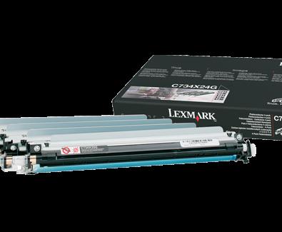 Lexmark C734X24G Color Photoconductor Unit, 4-Pack
