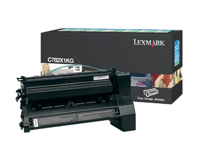 Lexmark C782X1KG High Yield Toner Cartridge, Black