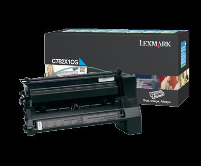 Lexmark C782X1CG High Yield Cyan Toner Cartridge