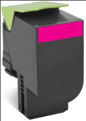 Lexmark 80C80M0 Magenta Toner Cartridge