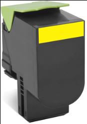 Lexmark 80C80Y0 Yellow Toner Cartridge