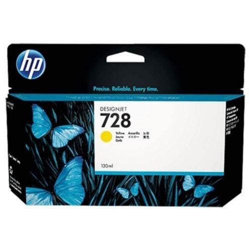 HP 728 Ink Cartridge, Yellow, 130ml