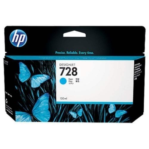 HP 728 Ink Cartridge, Cyan, 130ml