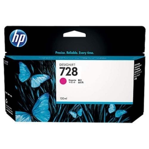 HP 728 Ink Cartridge, Magenta, 130ml, F9J66A
