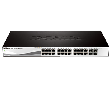 D-Link 24-Port 10/100/1000Mbps Web Smart Switches, DGS-1210-28