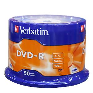 Verbatim DVD-R Spindle, 50-Cds