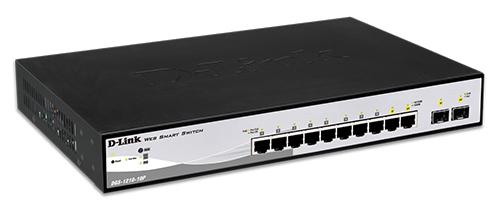 D-Link 8-Port 10/100/1000Mbps PoE Switches, DGS-1210-10P