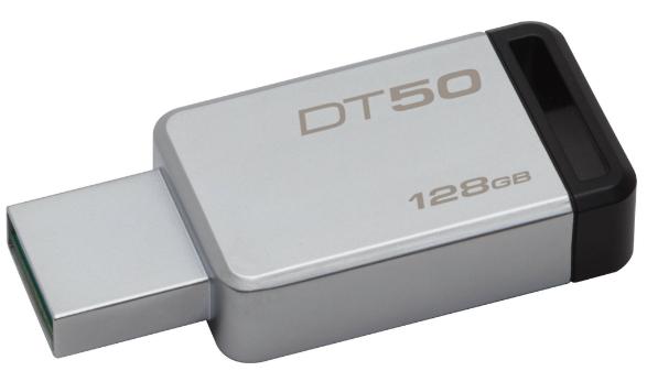 Kingston 128GB Pen Drive, 3.0, DT50, Metal