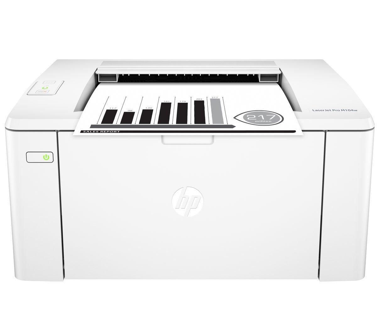 HP M104w Black on White Laser Printer , Print, Wifi