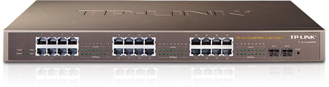 TP-Link 24-Port 10/100/1000Mbps Web Smart Switch, SG2224WEB