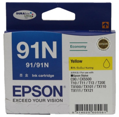 Epson 91N Ink Cartridge, Yellow