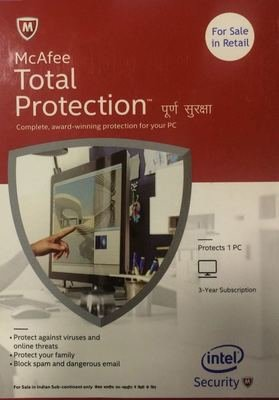 3 User, 3 Year, Mcafee Total Protection