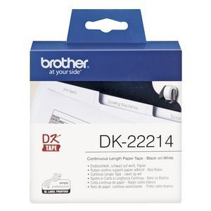 Brother DK22214 Continuous Length Paper Label, 12mm X 30.48m