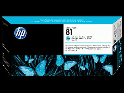 HP 81 Printhead, Light Cyan & Cleaner