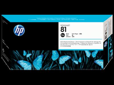 HP 81 Printhead, Black & Cleaner