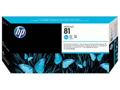 HP 81 Printhead, Cyan & Cleaner