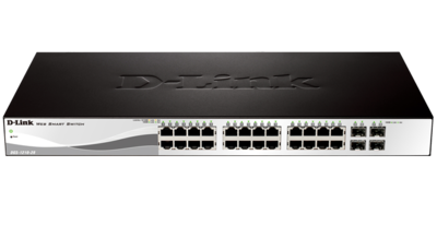 D-Link 24-Port 10/100/1000Mbps PoE Switches, DGS-1210-28P