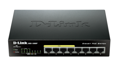 D-Link 8Port, 4Port PoE Unmanaged Switch, DGS-1008P