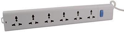 Bull 6 Sockets, 1 Switch Circuit Breaker 1.5mtr Extension Board